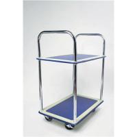 5 Star Facilities Trolley Steel Frame 2 Shelves Non Marking Wheels Capacity 120kg Chrome