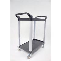 5 Star Facilities Utility Tray Trolley Standard 2 Shelf Capacity 100kg