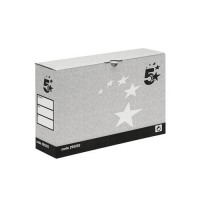 5 Star Facilities Transfer Case Hinged Lid Foolscap Grey [Pack 10]