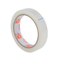 5 Star Office Clear Tape Roll Large Easy-tear Polypropylene 40 Microns 19mm x 66m [Pack 8]