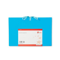 5 Star Office Expanding File with Cloth Ties 16 Pockets A-Z Quarters 1-31 Foolscap Blue