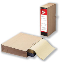 5 Star Office Storage Bag with Dust Flap Foolscap 102mm Capacity 356x248mm [Pack 25]