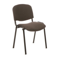 Trexus Stacking Chair Stackable Pre-assembled Fabric Charcoal