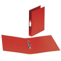 5 Star Office Ring Binder 2 O-Ring Size 25mm Polypropylene A4 Red [Pack 10]