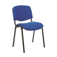 Trexus Stacking Chair Upholstered with Shaped Seat W480xD420xH500mm Blue