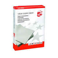 5 Star Office Value Copier Paper Multifunctional Ream-Wrapped A4 White [500 Sheets]