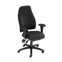 Influx Posture High Back Asynchronous Armchair Seat W500xD500xH420-530mm Black