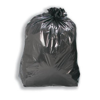 5 Star Facilities Bin Liners Medium Duty 110 Litre Capacity W450xD240xH950mm 15 Micron Black [Pack 200]