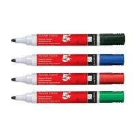 5 Star Office Drywipe Marker Xylene/Toluene-free Bullet Tip 3mm Line Assorted [Wallet 12]