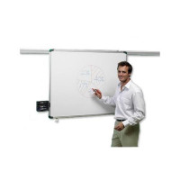Nobo Pro-Rail Drywipe Board Magnetic 1800mm Aluminium Trim Ref 1901234