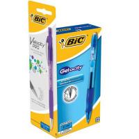 Bic Velocity Gel Rollerball Pen Comfort Grip Retractable Blue Ref 820566 [Pack 12] [FREE Matic Grip x4]