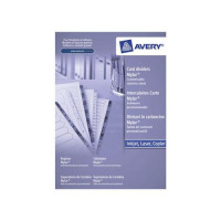 Avery Index Multipunched 1-50 A4 White Ref 05226061