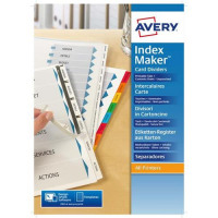 Avery IndexMaker Divider Set Unpunched A4 5-Part Ref 01814061