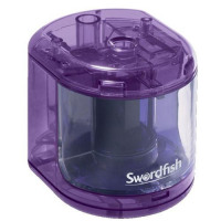 Swordfish Electric Pencil Sharpener Battery Operated Purple Ref 40003