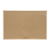 5 Star Eco Noticeboard Cork with Pine Frame W600xH400mm