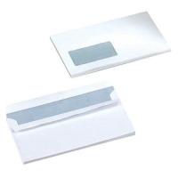 5 Star Office Envelopes Wallet Self Seal Window 90gsm White DL [Pack 500]