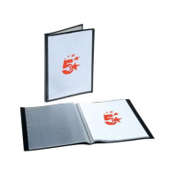 5 Star Office Display Book Rigid Cover Personalisable Polypropylene 40 Pockets A4 Black