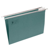 5 Star Office Suspension File Manilla with Tabs and Inserts A4 Green [Pack 50]