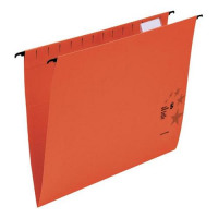 5 Star Office Suspension File Manilla Heavyweight with Tabs and Inserts Foolscap Red [Pack 50
