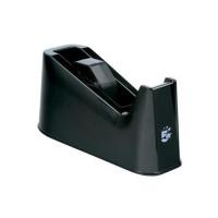 5 Star Office Tape Dispenser Desktop Weighted Non-slip Roll Capacity 25mm Width 66m Length Black