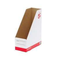 5 Star Office Magazine File Quick-assemble A4 Plus Red & White [Pack 10]