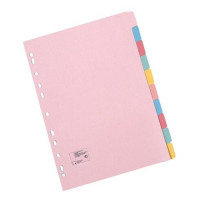 5 Star Office Subject Dividers Multipunched Manilla Card 10-Part A5 Assorted