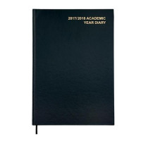 5 Star Office 2017/18 Academic Diary Day/Page A4 Black