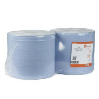5 Star Facilities Giant Wiper Roll 2-ply Perforated Sheet 370x370mm 40gsm1000 Sheets Blue [Pack 2]