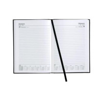 5 Star Office 2018/19 Day To Page Diary A4 Black