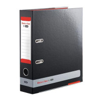 Black n Red by Elba Lever Arch File 80mm Spine A4 Ref 400051488 [x3 and FREE A5 Notebook] Jan-Dec 2016