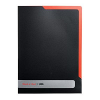 Black n Red by Elba L Folder Polypropylene Ref 400051533 [Pack 5] [x3 and FREE A5 Notebook] Jan-Dec 2016