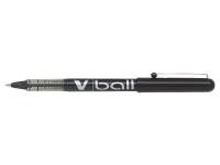 Pilot Black V-Ball Rollerball Pens 0.3mm (Pack of 12) BLVB5-01