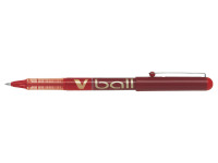 Pilot Red V-Ball Rollerball Pens 0.5mm (Pack of 12) BLVB7-02