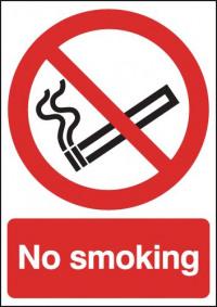 Safety Sign No Smoking A5 Self-Adhesive ML02051S