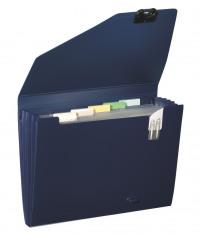 Snopake 6 Part Expanding Organiser A4 Dark Blue 11892