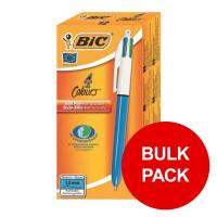 Bic 4-Colour Ball Pen Blue Black Red Green Ref 802077/801867 [Pack 144] [Bulk Pack] Jan-Dec 2019