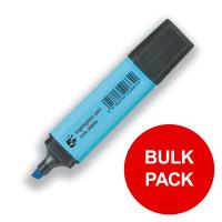 5 Star Office Highlighters Chisel Tip 1-5mm Line Blue [Pack 144] [Bulk Pack] Jan-Dec 2019