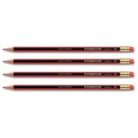 Staedtler 110 Tradition Pencil Cedar Wood with Eraser HB Ref 112HBRT [Pack 144] [Bulk Pack] Jan-Dec 2018
