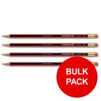 Staedtler 110 Tradition Pencil Cedar Wood with Eraser HB Ref 112HBRT [Pack 144] [Bulk Pack] Jan-Dec 2019
