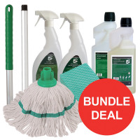 5 Star Facilities Kitchen Cleaning Bundle with Mop/Cloths/Cleaning Fluids [Bundle Offer]
