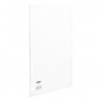 Concord Subject Dividers 10-Part Multipunched 150gsm A4 White Ref 79701