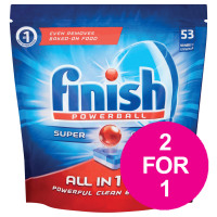 Finish Dishwasher Powerball Tablets All-in-1 Ref 3041411 [Pack 53] [2 For 1] Aug 2018