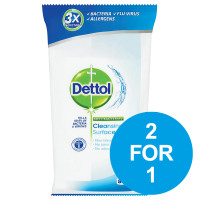 Dettol Antibacterial Surface Cleaning Wipes Ref 3007228 [Pack 84] [2 For 1] Jul-Dec 2018