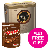 Nescafe Gold Blend Instant Coffee Tin 750g Ref 12284102 [FREE Rolos x4] Jul-Sep 2018