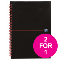 Black n Red Book Wirebound 90gsm Ruled 140pp A4 Ref 100103711 [Pack 5] [2 For 1] Jul-Sep 2018