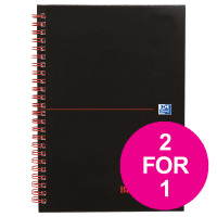 Black n Red Book Wirebound 90gsm Ruled Perforated 140pp A5 Ref 100080220 [Pack 5] [2 For 1] Jul-Sep 2018
