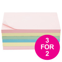 5 Star Office Extra Sticky Re-Move Notes 76x127mm Assorted Pastel Colours [Pack 6] [3 For 2] Jul 2018