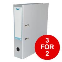 Elba Classy Lever Arch File A4 70mm Metalic Silver Ref 400021007 [3 for 2] Jan-Dec 2019
