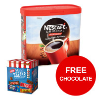 Nescafe Original Instant Coffee Granules Tin 750g Ref 12315566 [FREE Chocolates] Jan-Mar 2019