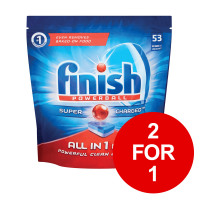Finish Dishwasher Powerball Tablets All-in-1 Ref 3041411 [Pack 53] [2 for 1] Jan-Mar 2019